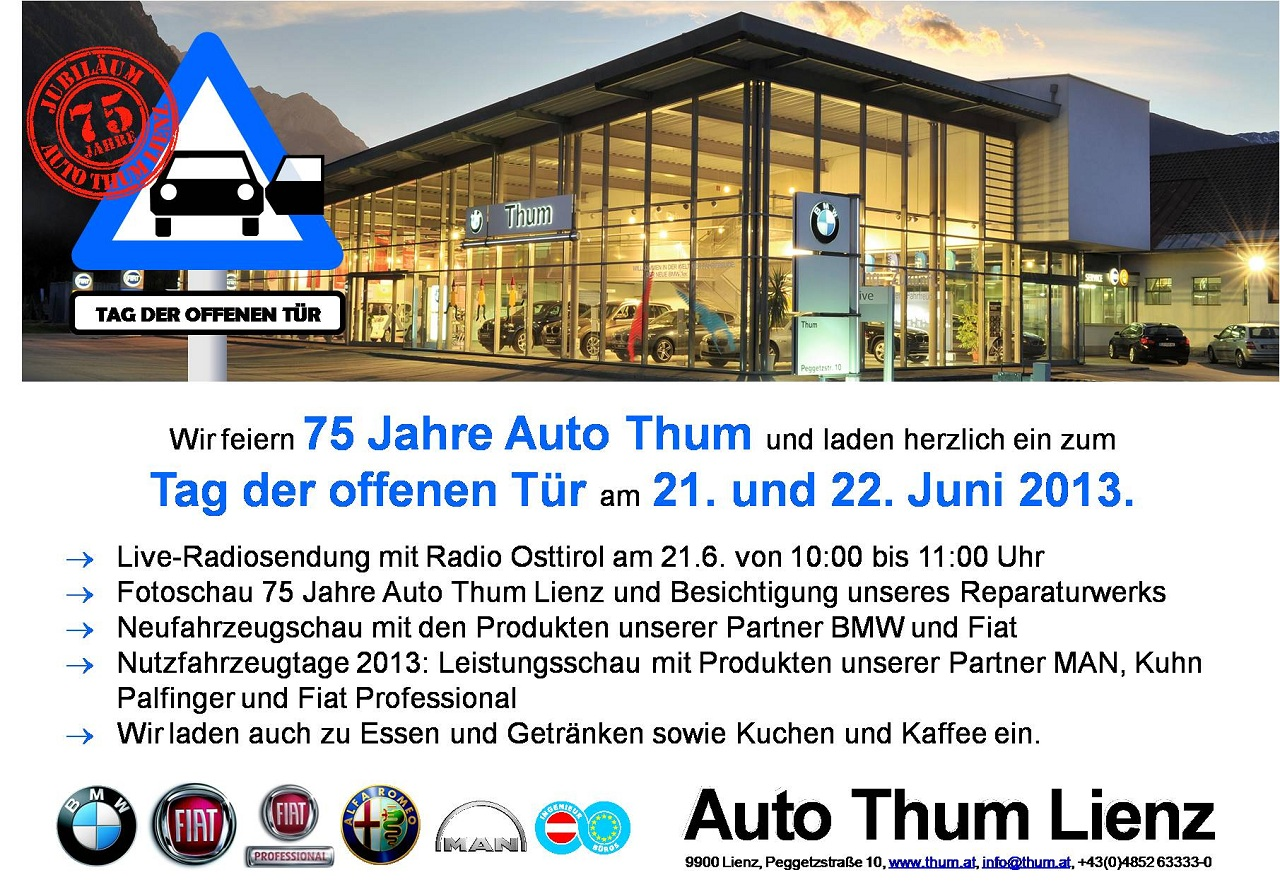 Jahre Auto Thum Einladung Zum Tag Der Offenen T?r.